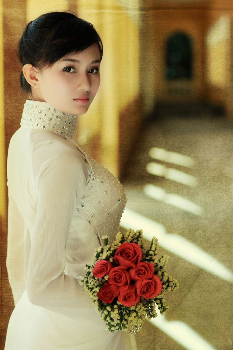 ベトナム民族衣装アオザイ画像 1