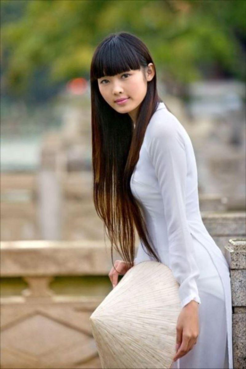 ベトナム民族衣装アオザイ画像 40