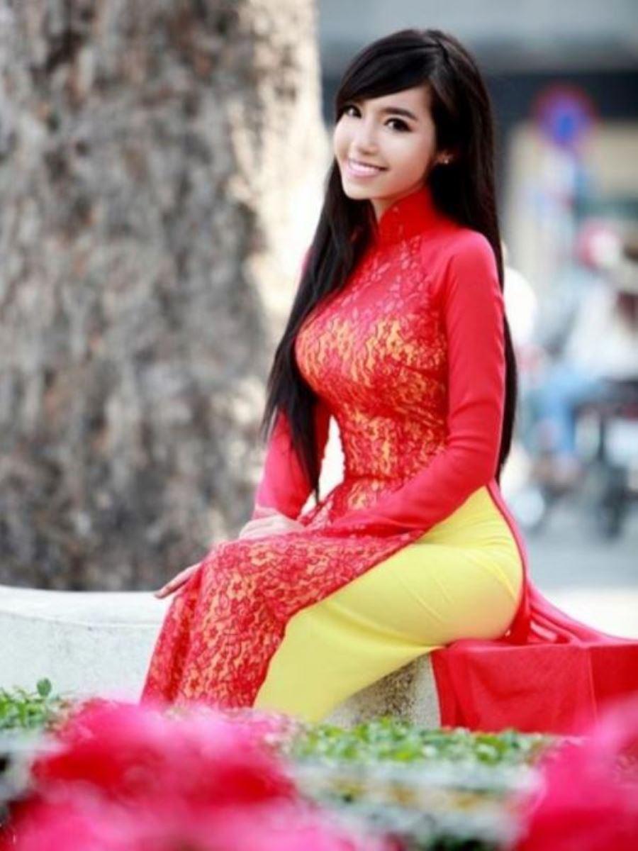 ベトナム民族衣装アオザイ画像 46
