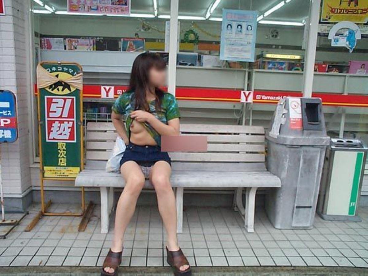 コンビニ・露出女画像 7