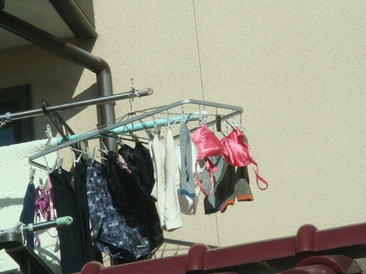 ベランダの下着盗撮画像 1