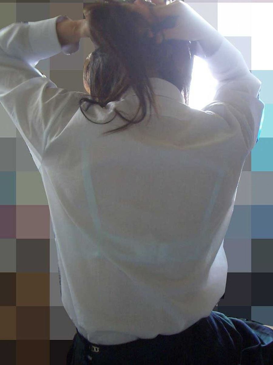 夏 ブラ透け JK 街撮り 透けブラ エロ画像 45