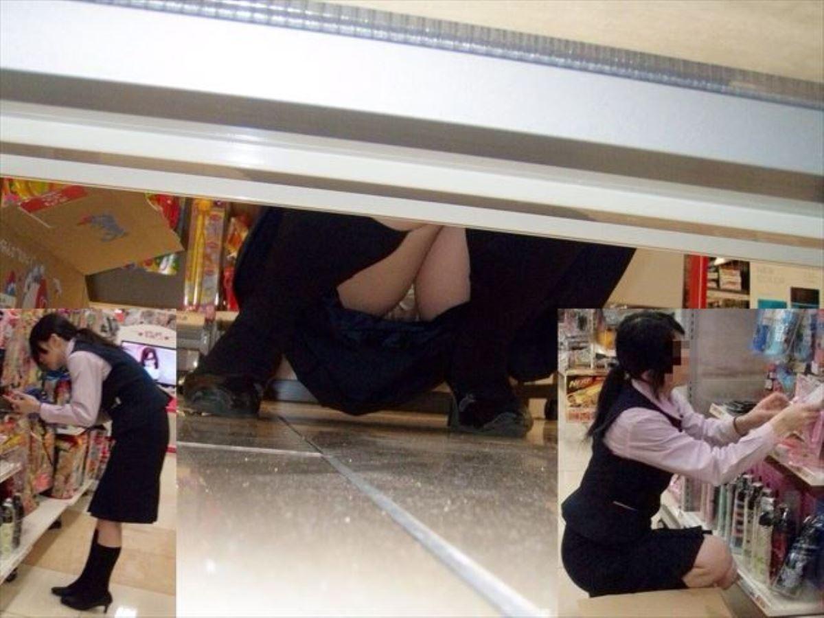 働くお姉さん 盗撮 街撮り パンチラ エロ画像 45