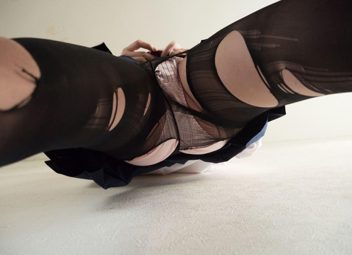 童顔素人にJKっぽく制服を着させたハメ撮りセックス画像 88
