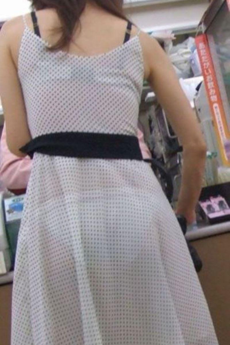 パンツの色柄までモロ透けなパン透けエロ画像 46