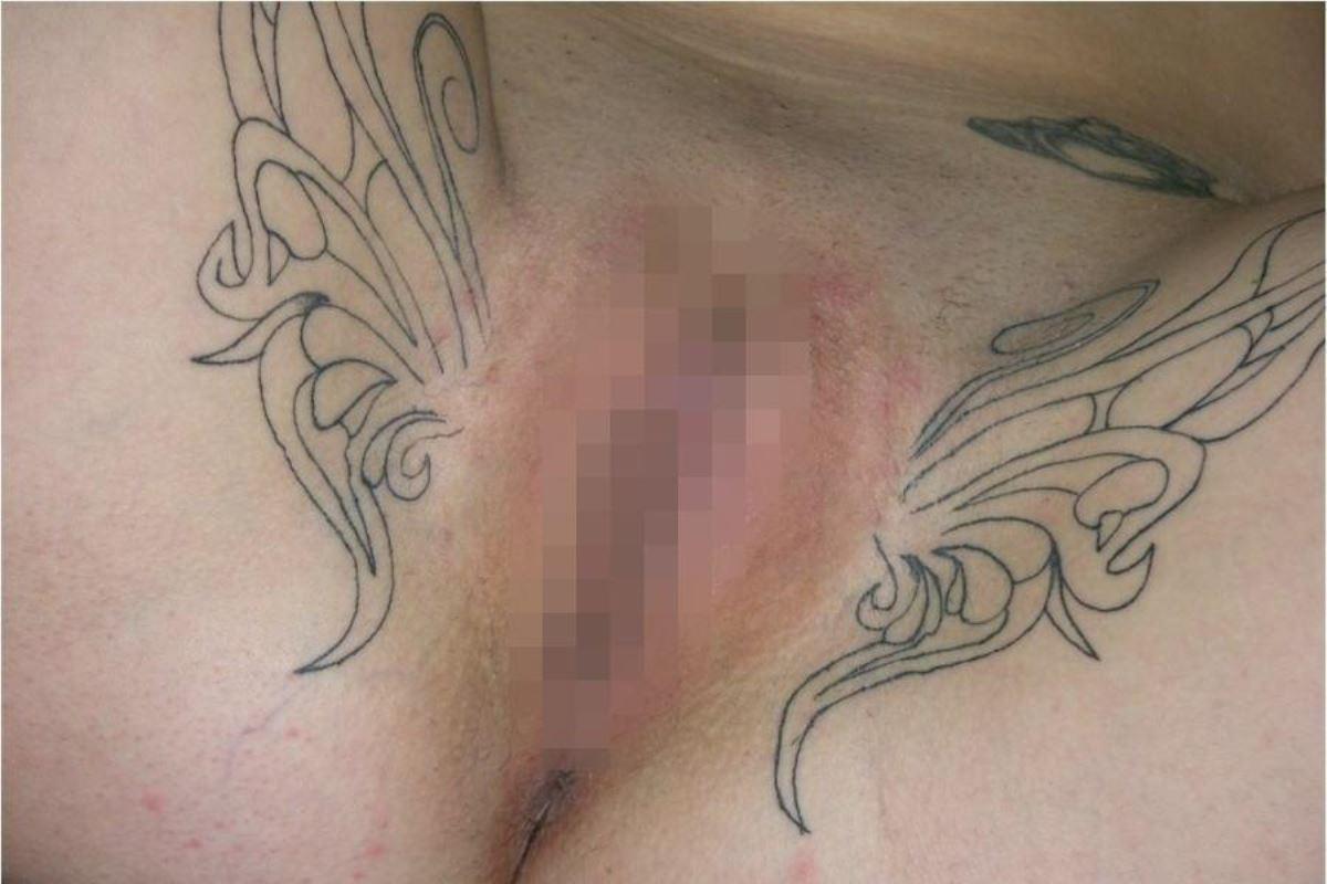 タトゥー(入れ墨・刺青)まんこ画像 7