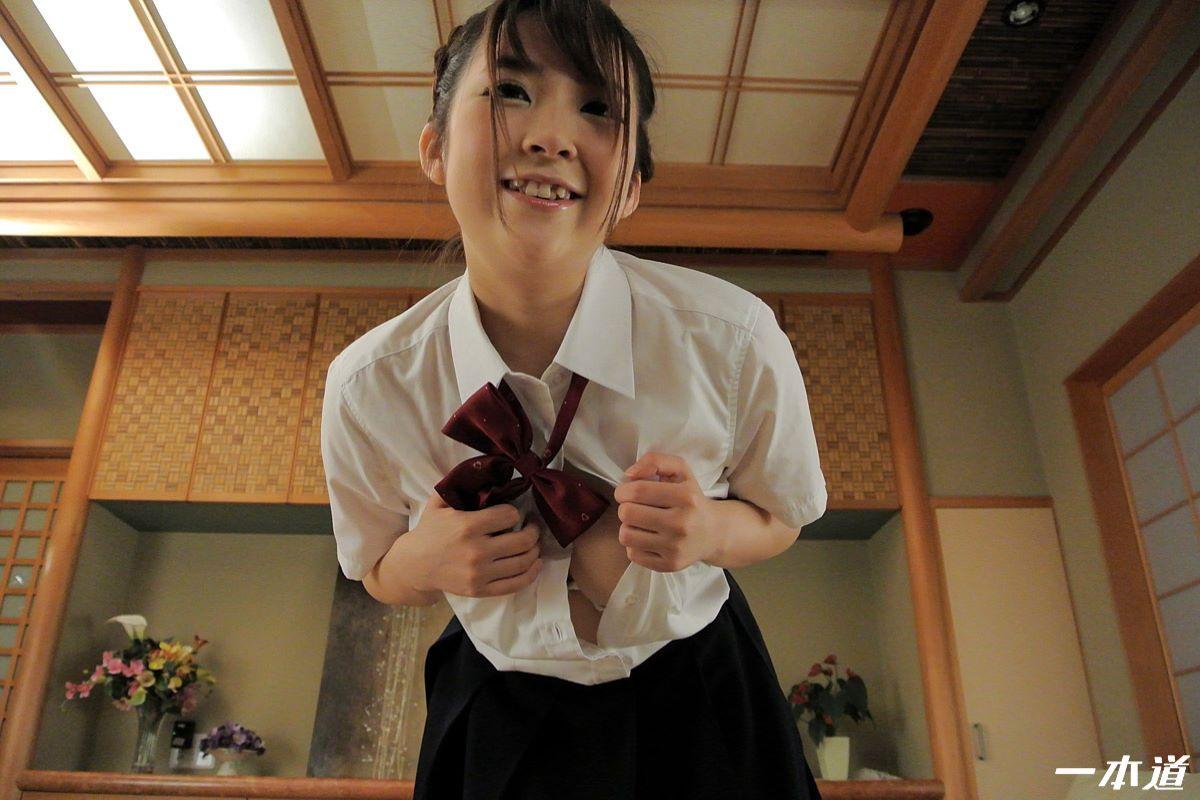 愛乃まほろ 可愛い制服少女の無修正セックス画像 11