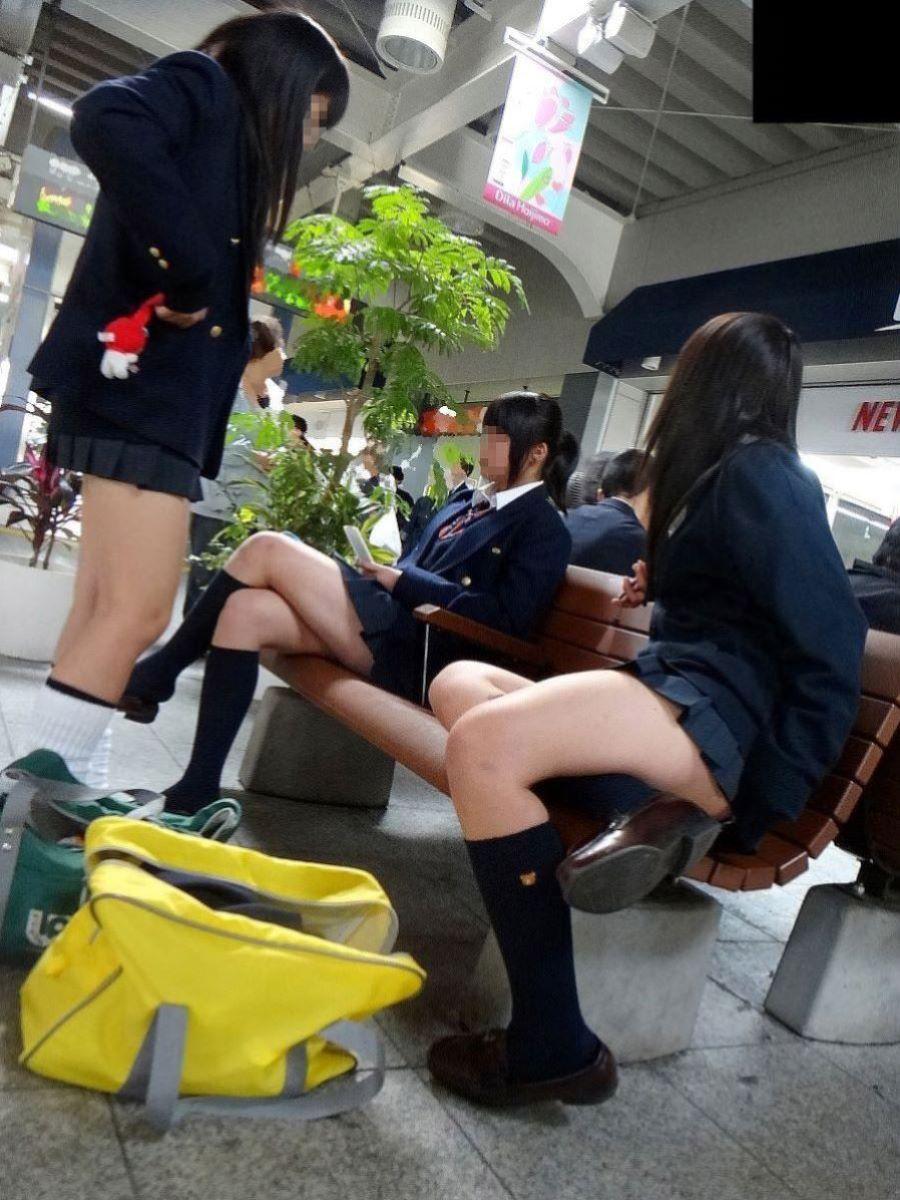 制服JK 女子高生 通学風景 画像 1