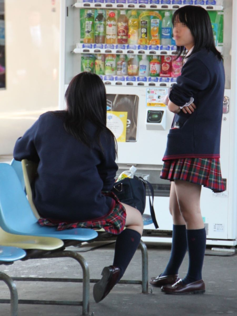 制服JK 女子高生 通学風景 画像 2