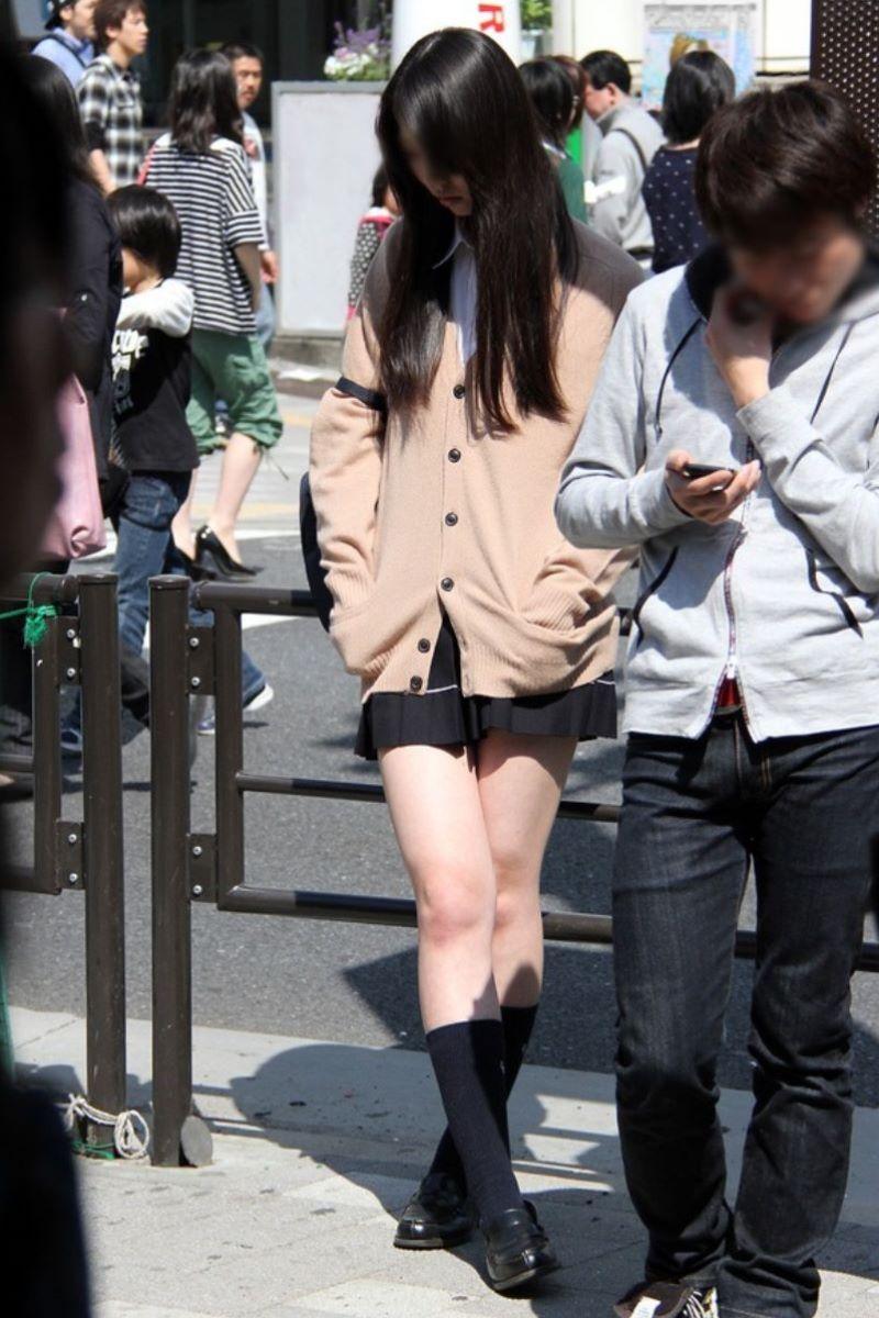 制服JK 女子高生 通学風景 画像 8