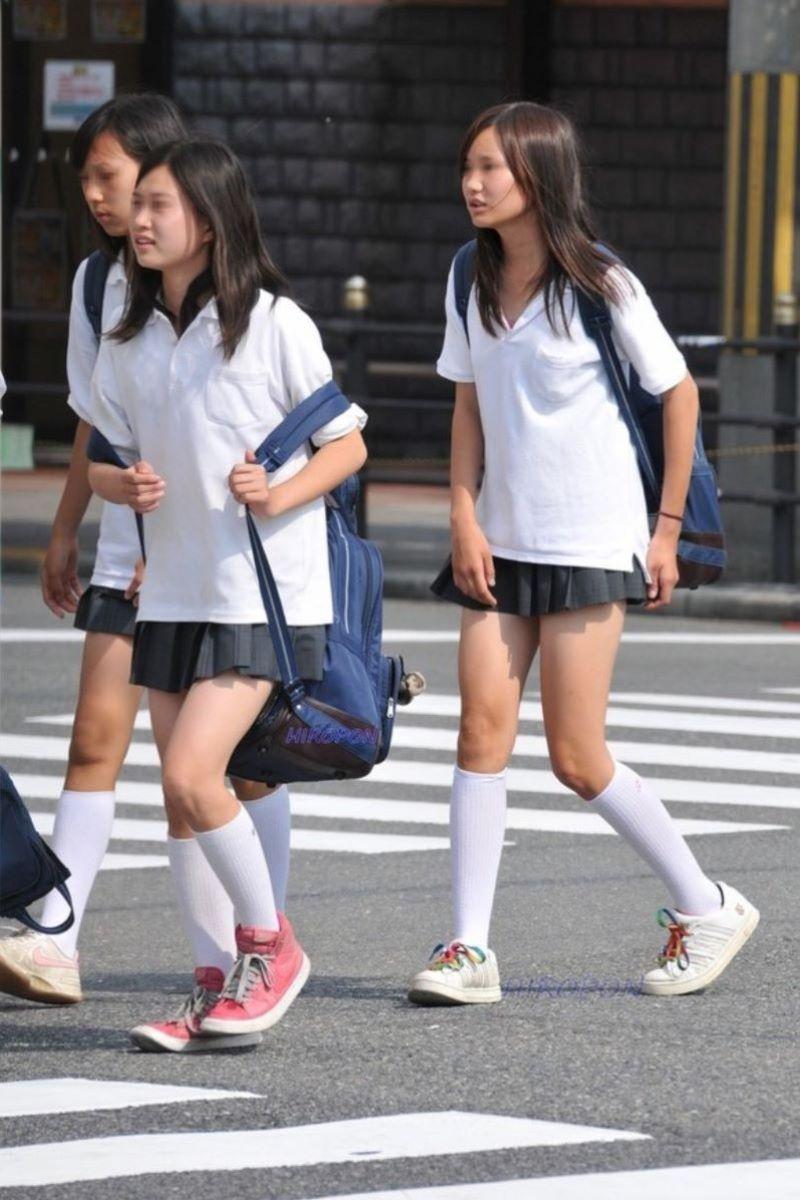 制服JK 女子高生 通学風景 画像 13