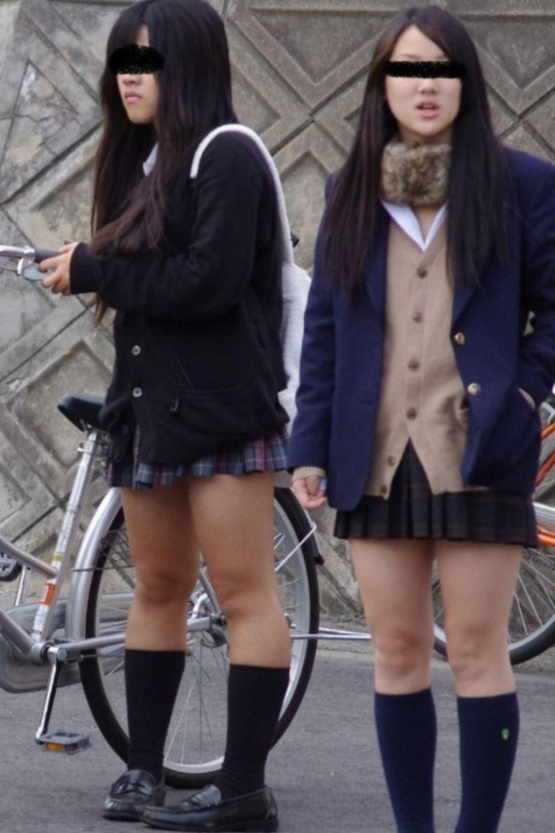 制服JK 女子高生 通学風景 画像 18