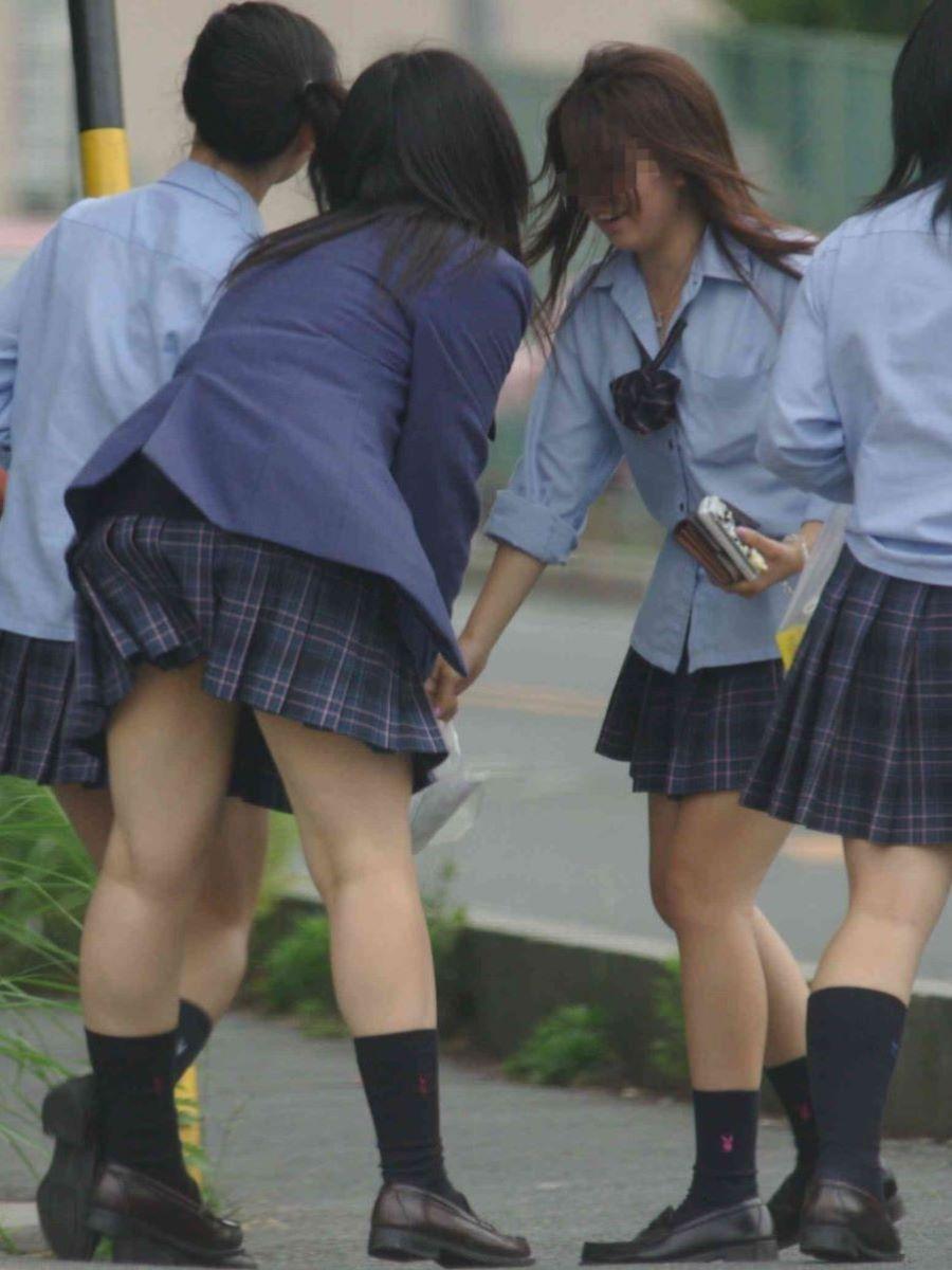 制服JK 女子高生 通学風景 画像 34