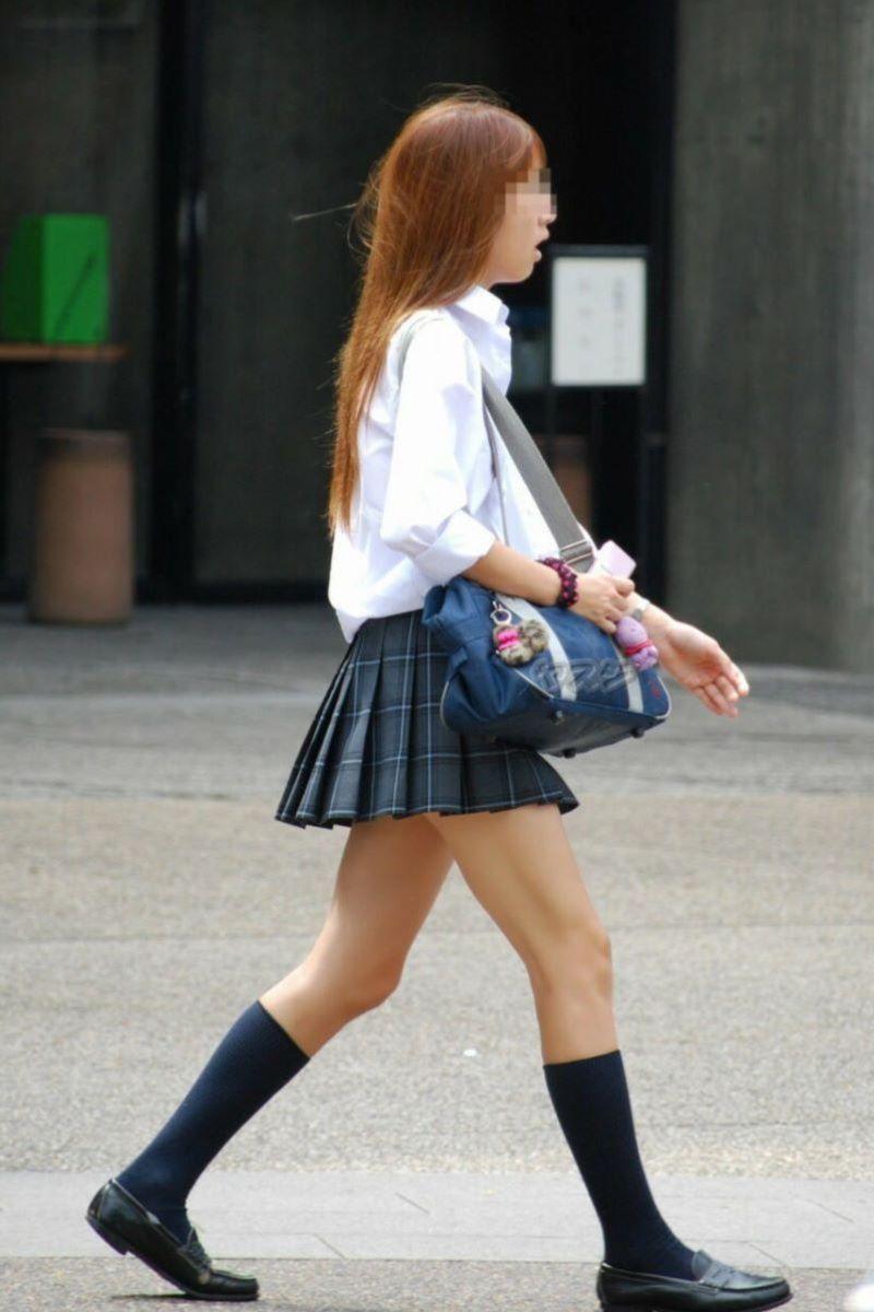 制服JK 女子高生 通学風景 画像 51