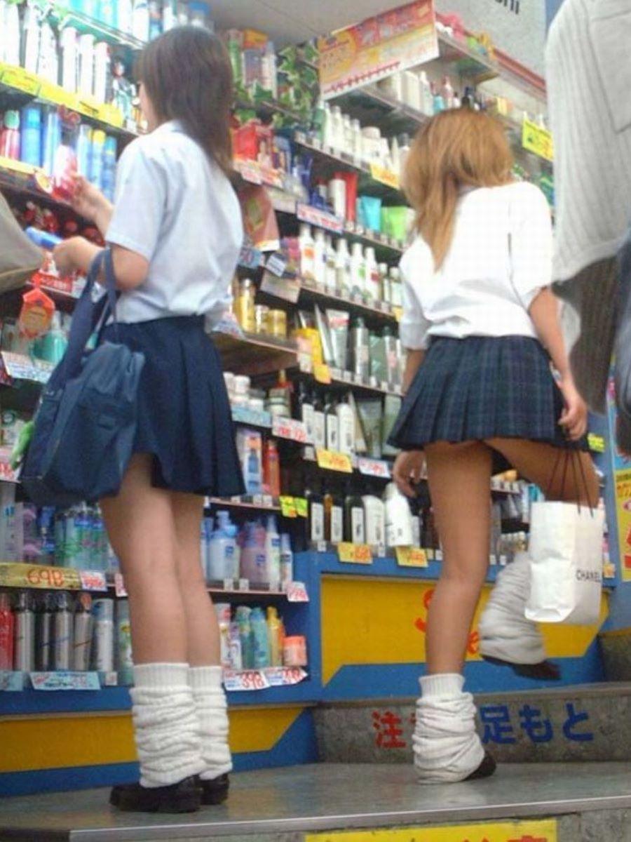 制服JK 女子高生 通学風景 画像 56