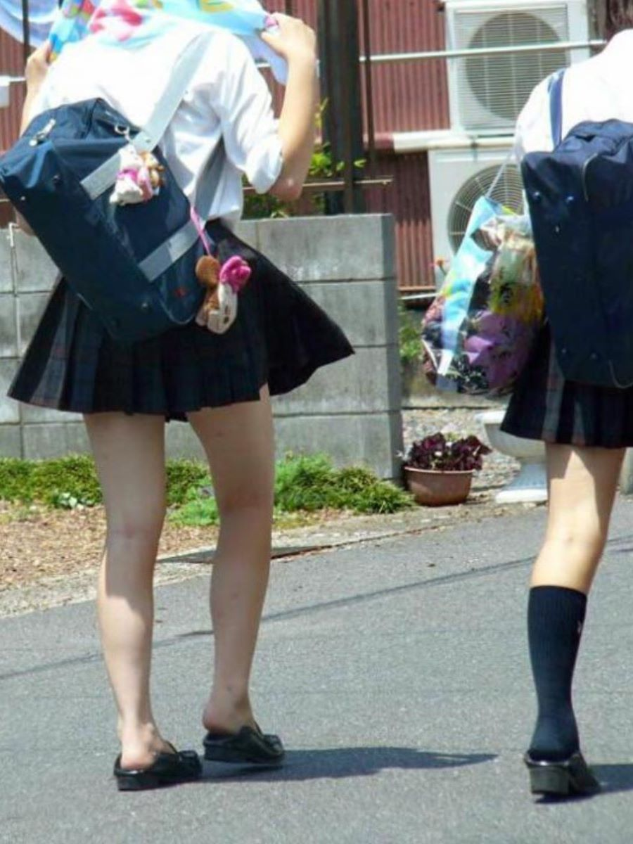 制服JK 女子高生 通学風景 画像 73