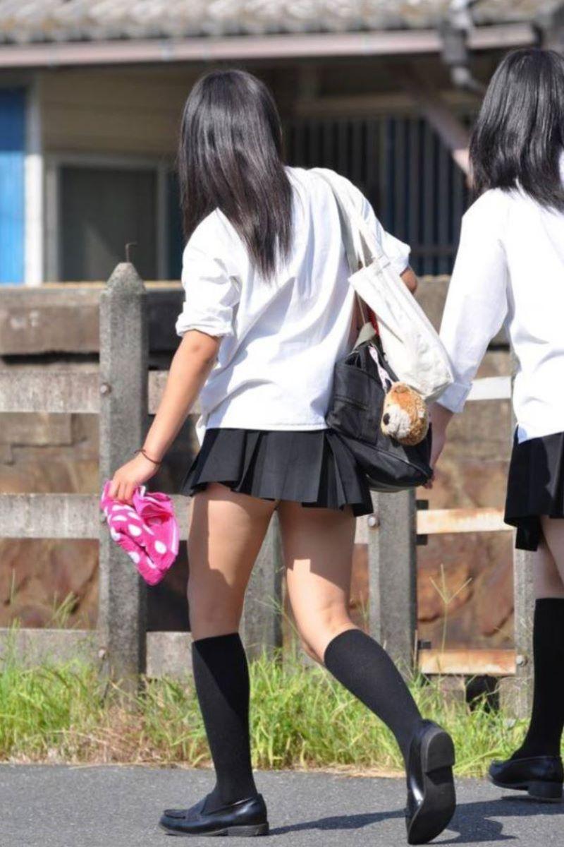 制服JK 女子高生 通学風景 画像 77