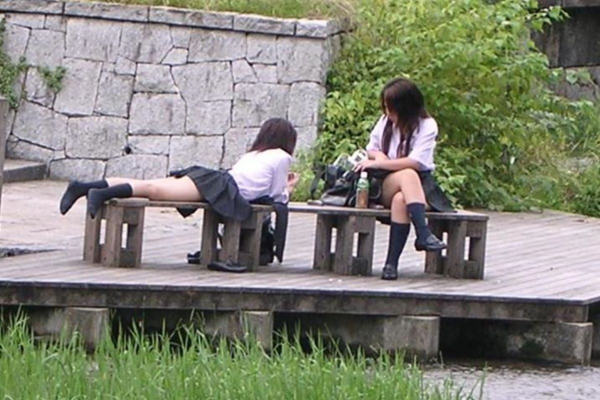 制服JK 女子高生 通学風景 画像 79