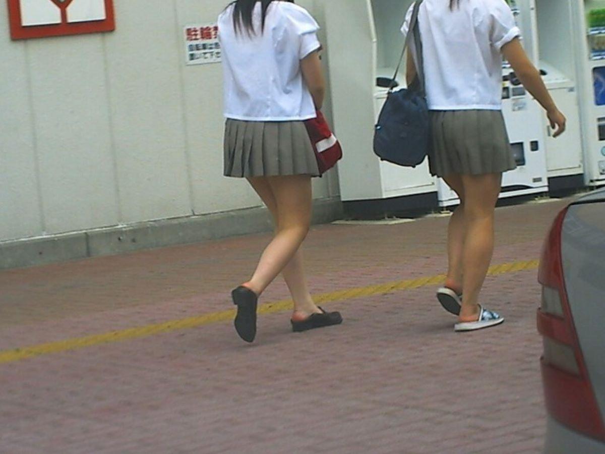 制服JK 女子高生 通学風景 画像 87