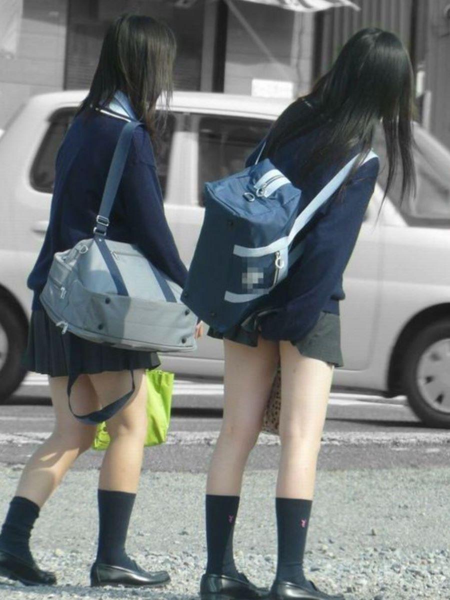 制服JK 女子高生 通学風景 画像 88