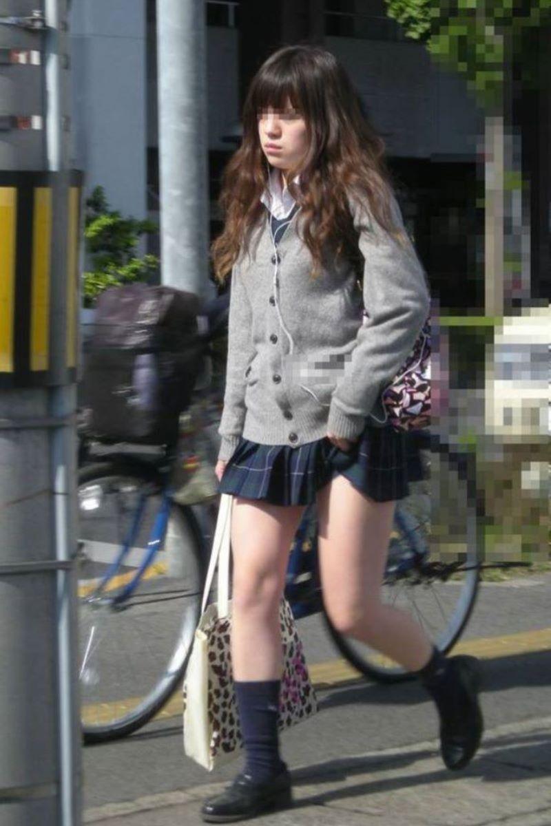 制服JK 女子高生 通学風景 画像 89