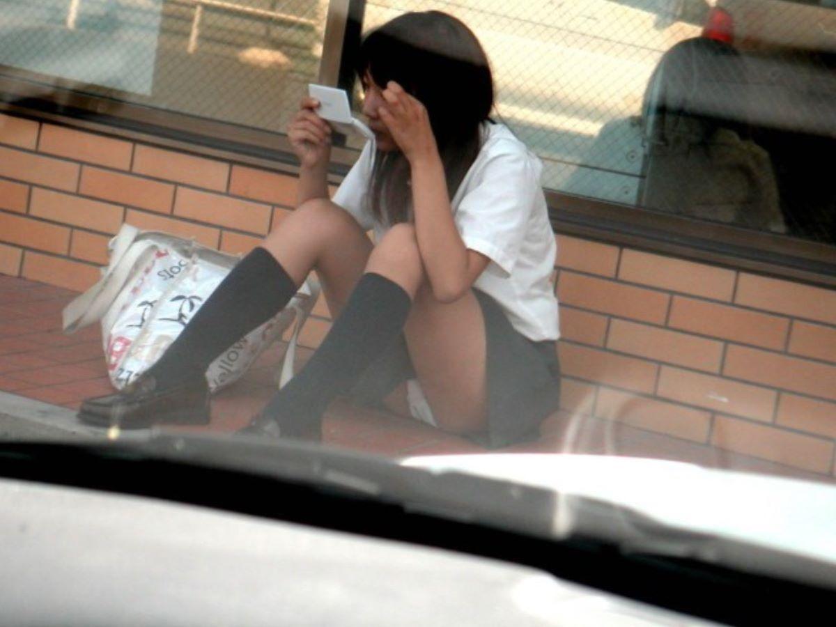 制服JK 女子高生 通学風景 画像 91