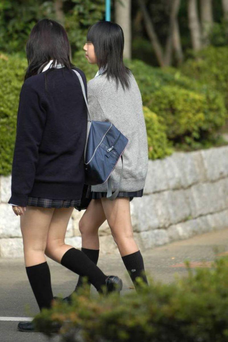 制服JK 女子高生 通学風景 画像 94
