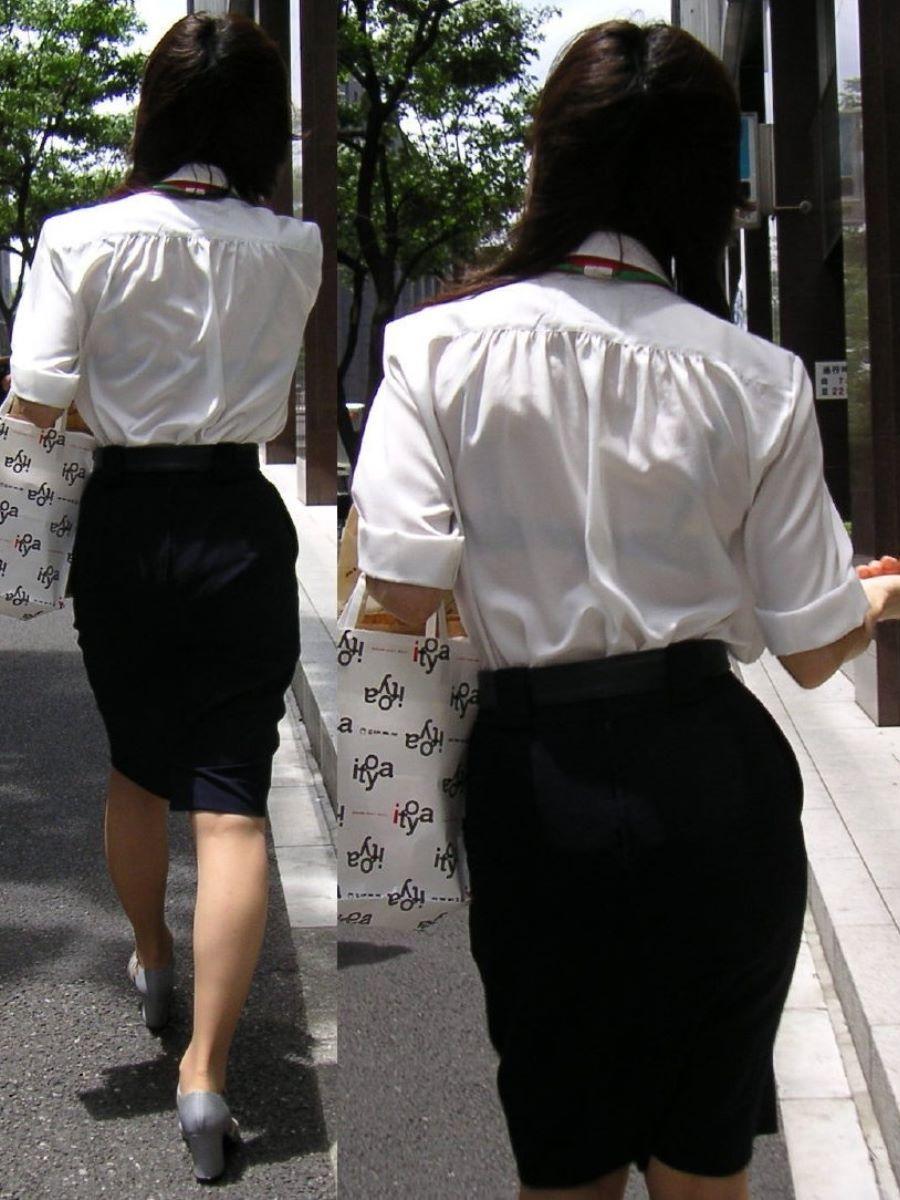 働く女性 ブラ透け画像 6
