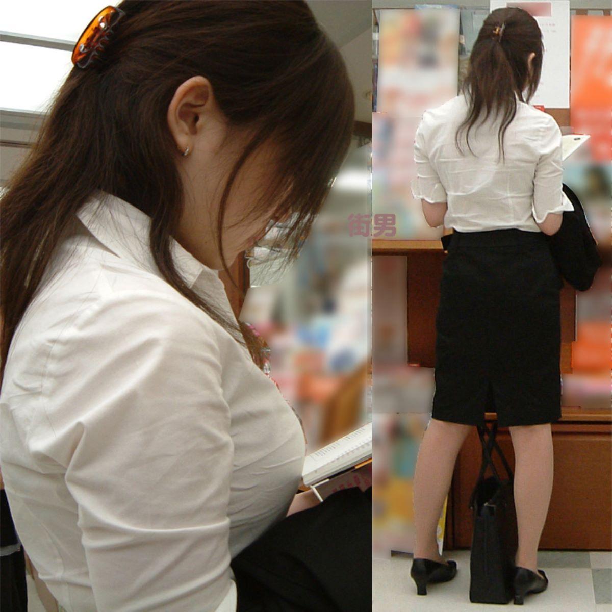 働く女性 ブラ透け画像 7