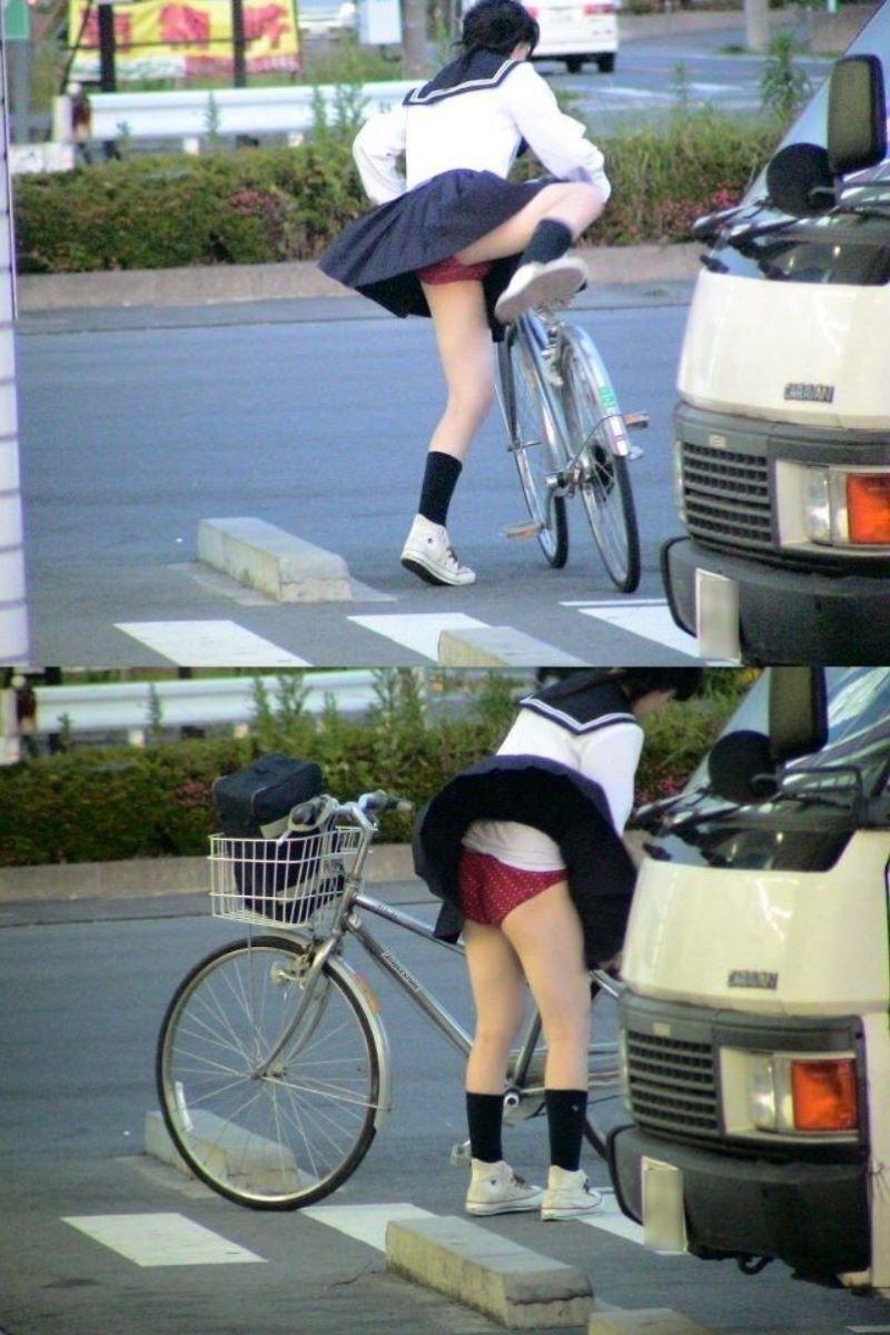 JK 自転車パンチラ画像 47