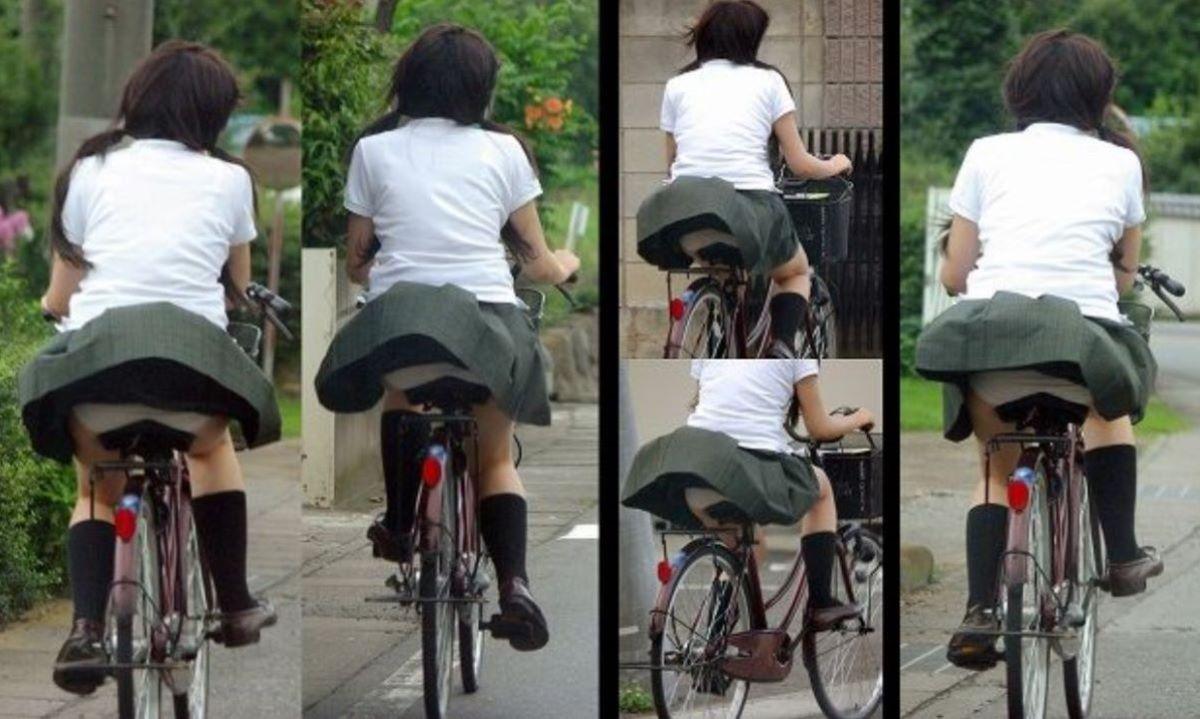 JK 自転車パンチラ画像 72