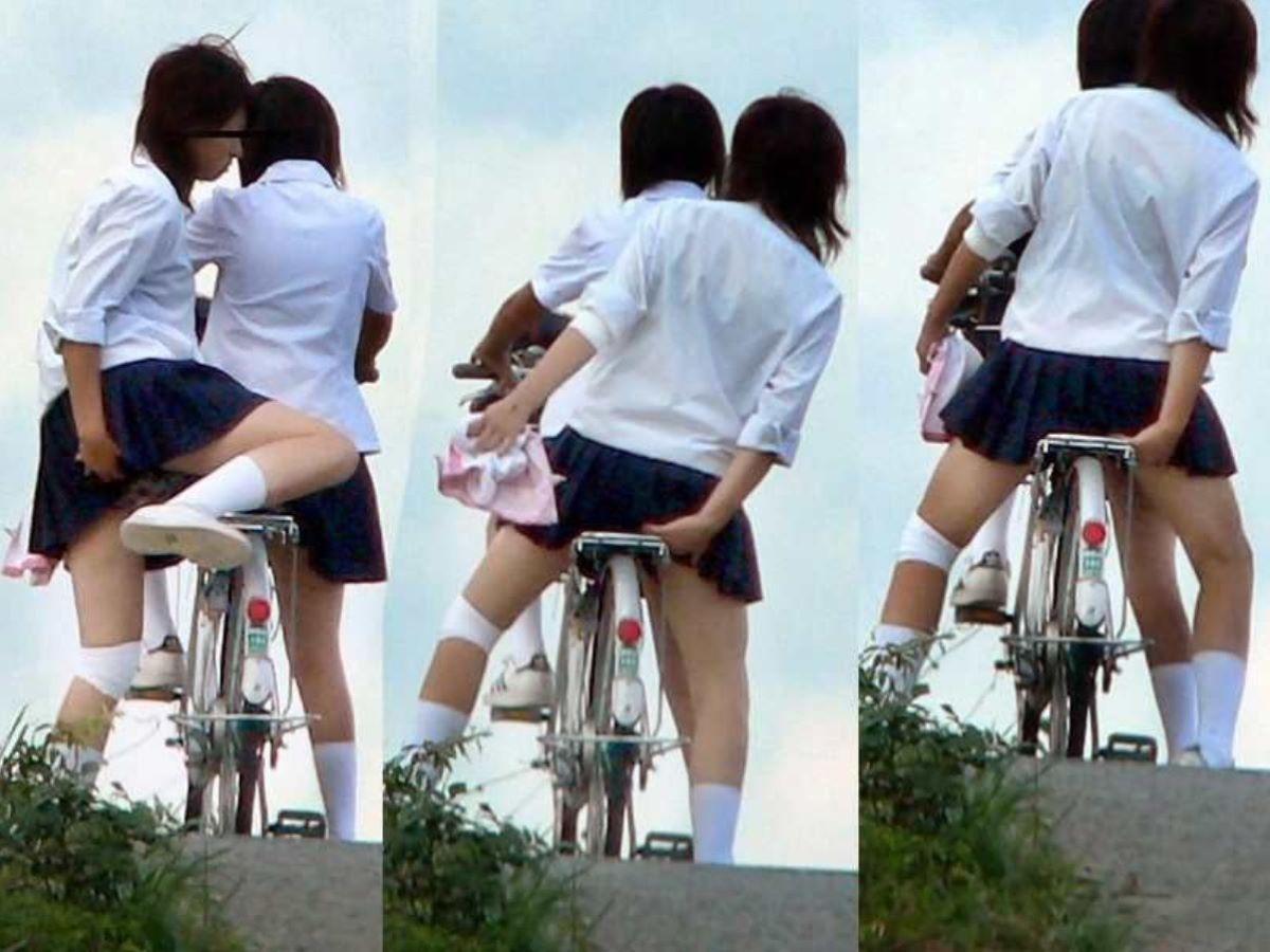 JK 自転車パンチラ画像 81