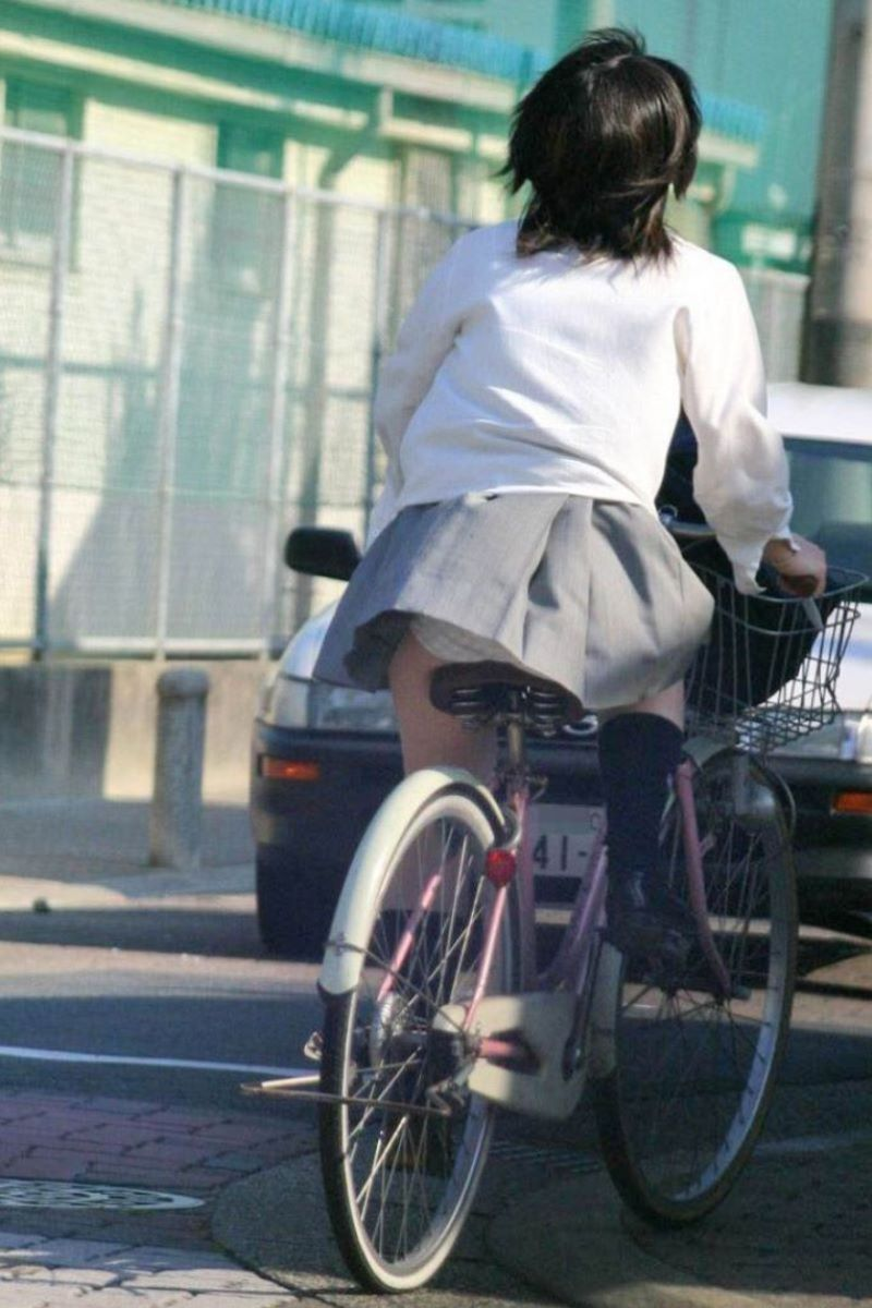 JK 自転車パンチラ画像 82