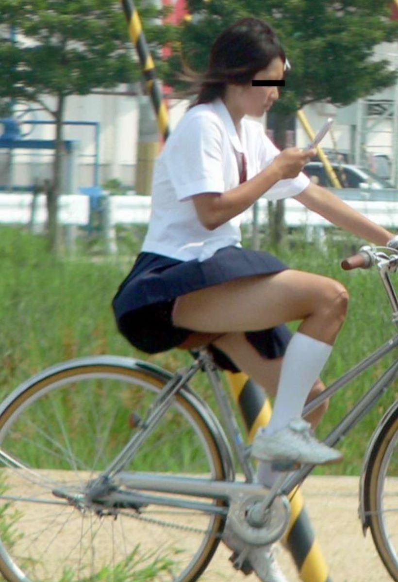 JK 自転車パンチラ画像 87