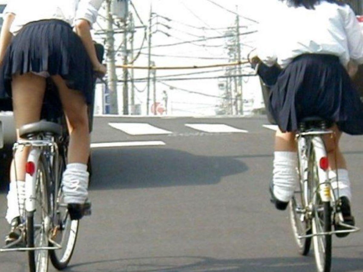 JK 自転車パンチラ画像 95