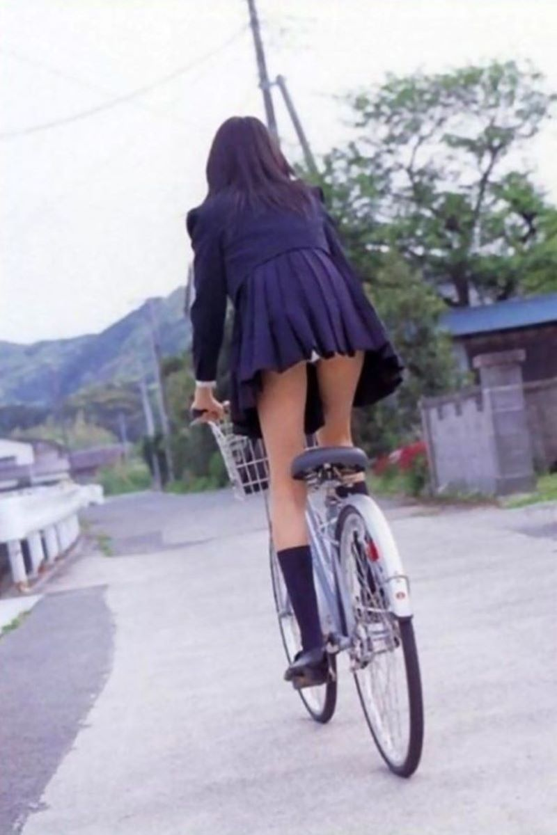 JK 自転車パンチラ画像 119