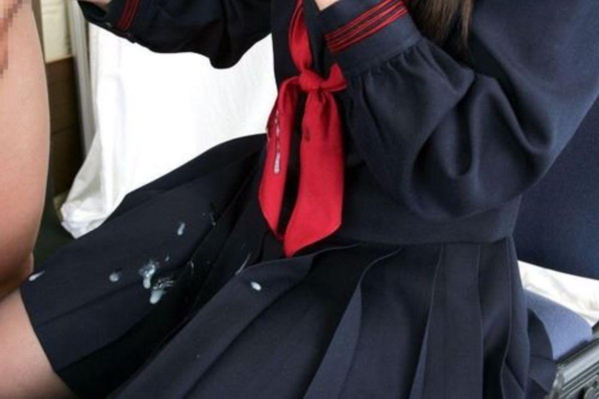 制服JK ぶっかけ画像 127