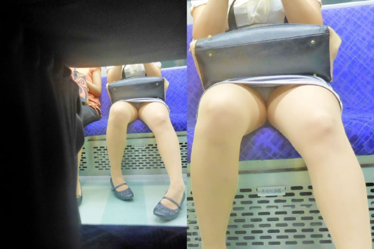 電車 対面 パンチラ画像 120