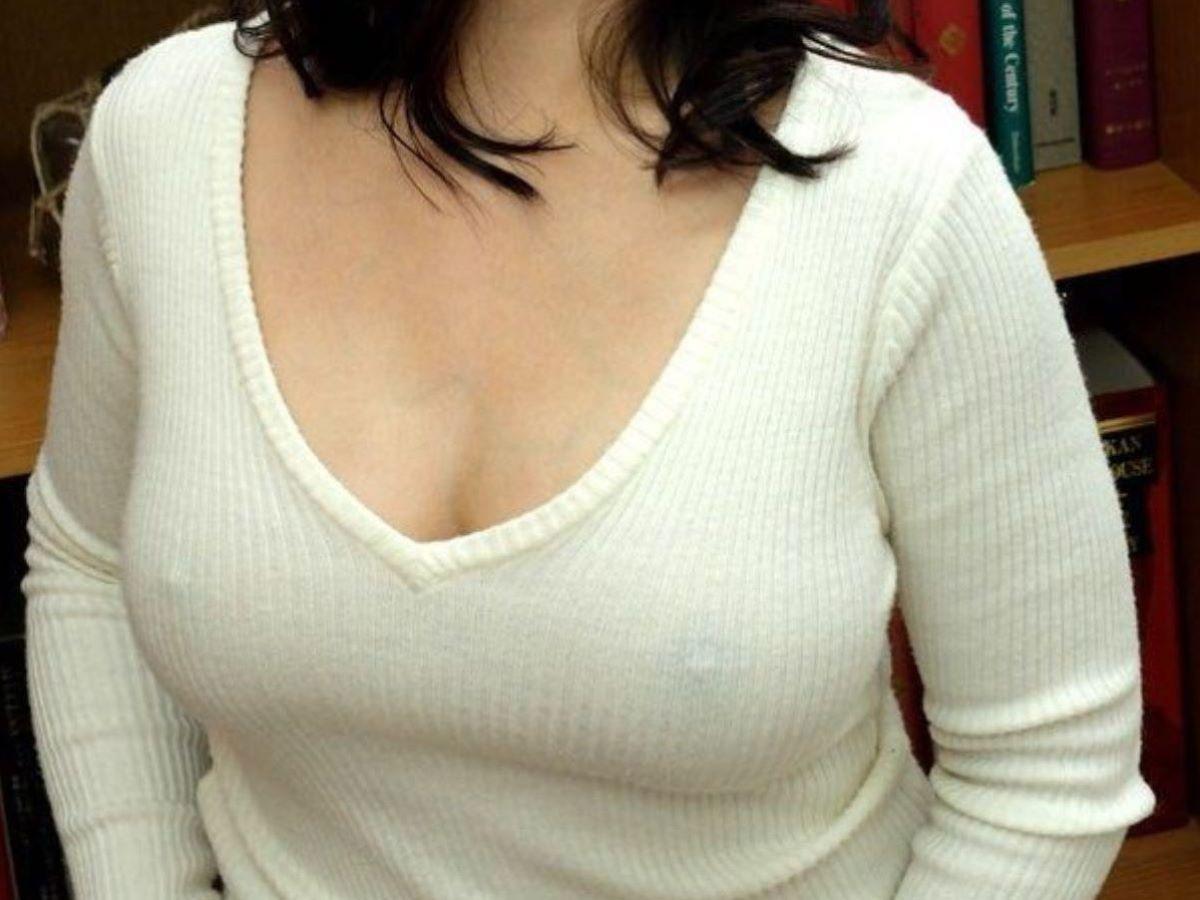 素人 胸ポチ 画像 97