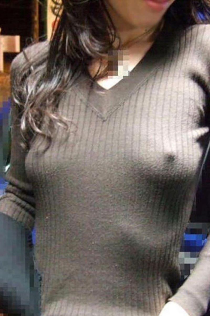 素人 胸ポチ 画像 112