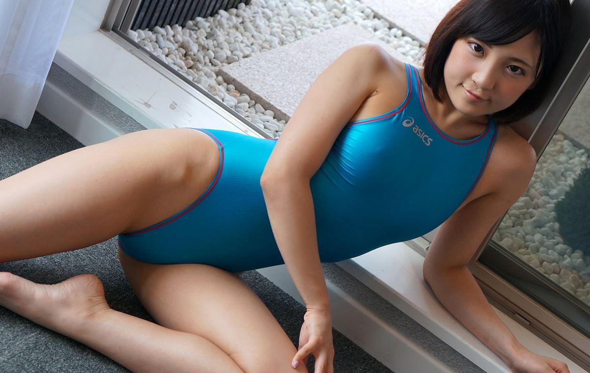 広瀬うみ スケスケ競泳水着エロ画像 33