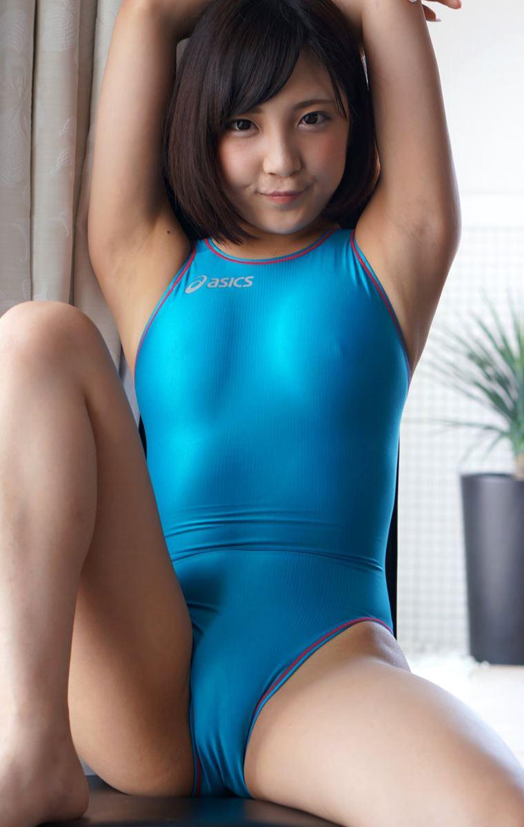 広瀬うみ スケスケ競泳水着エロ画像 40