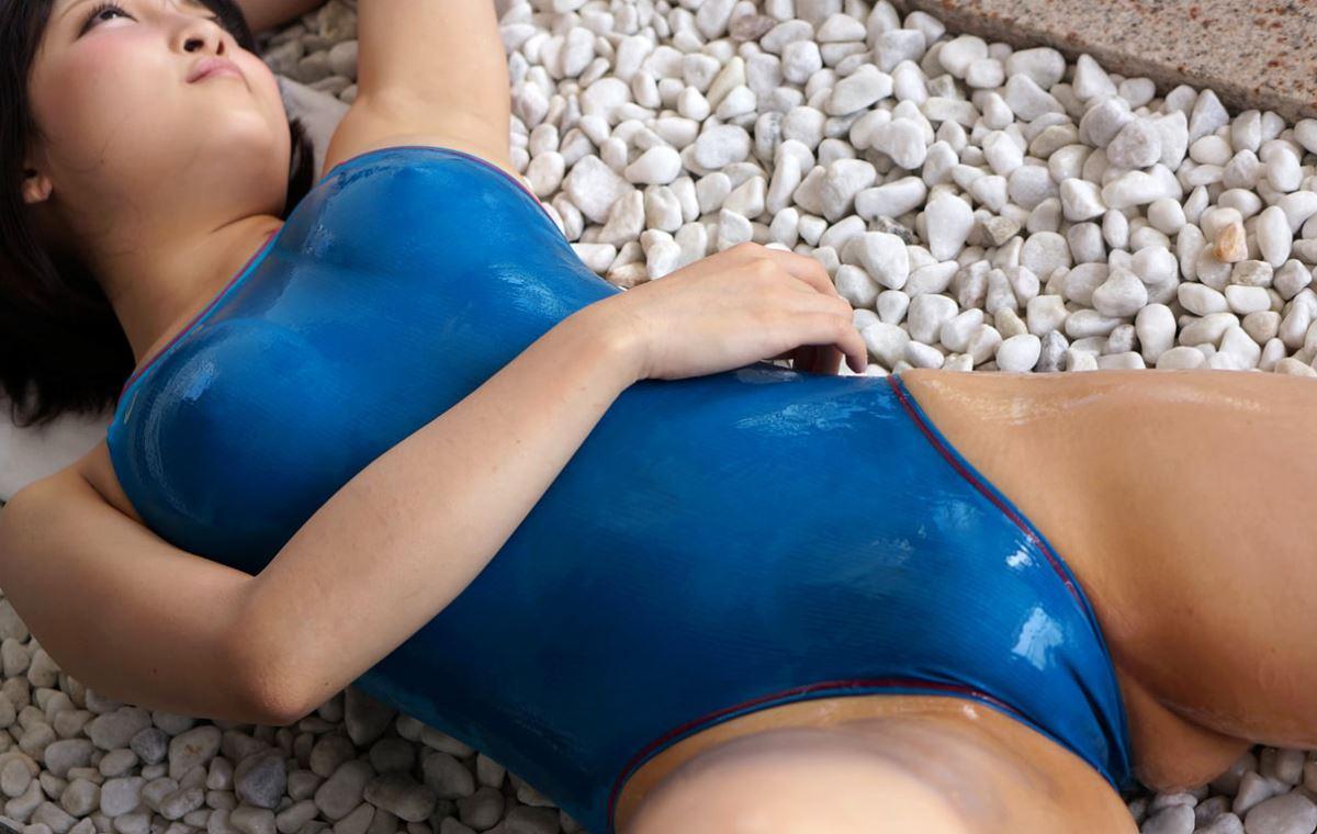 広瀬うみ スケスケ競泳水着エロ画像 79