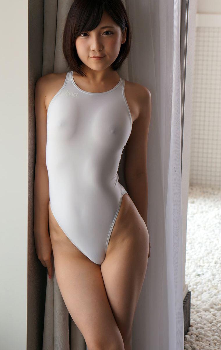 広瀬うみ スケスケ競泳水着エロ画像 95