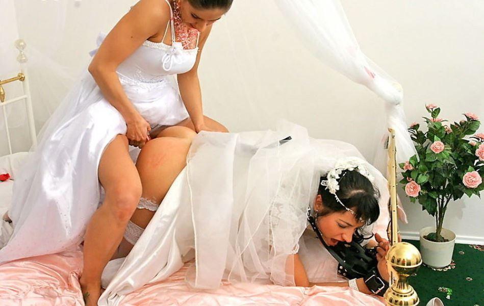 ウェディングドレス姿の外国人花嫁ファック画像 14