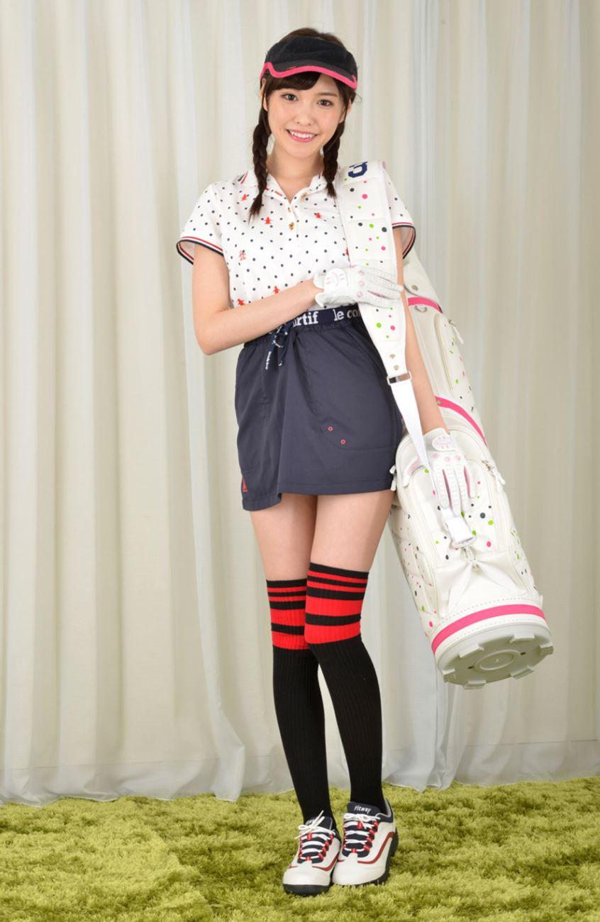 橋本ありな ゴルフ女子チラリ画像 1