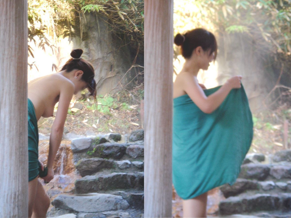 露天風呂で素人を隠し撮りした温泉盗撮画像 5