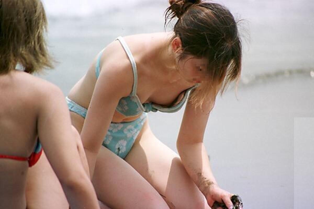 素人の水着チラリ画像 14