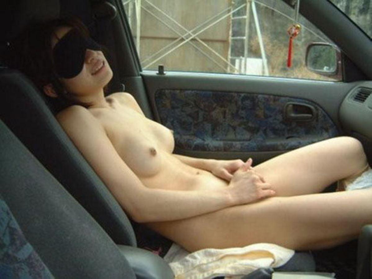 車内オナニー画像 11