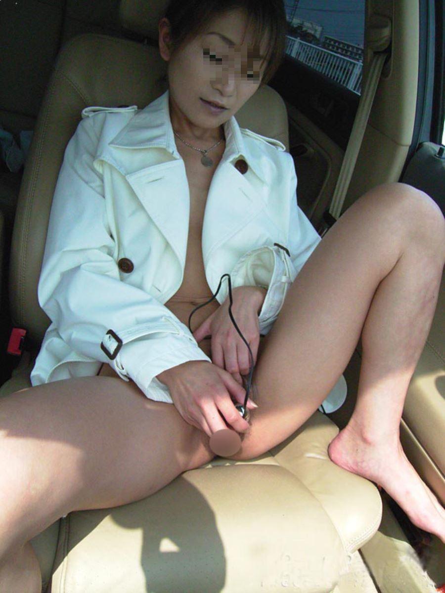 車内オナニー画像 14